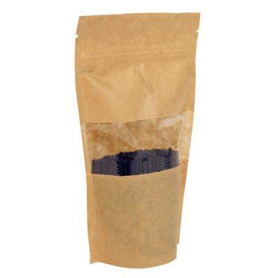 Doybag Kraft Papir med vindue