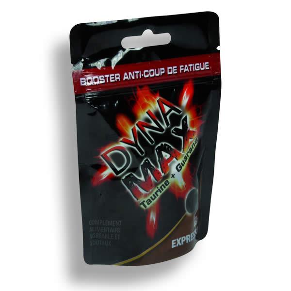 Lamizip® lamineret ståbunds pose i indfarvet sort PET/PE med 7 farvet tryk.