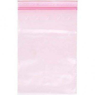Minigrip® lynlåsposer pink m/antistat
