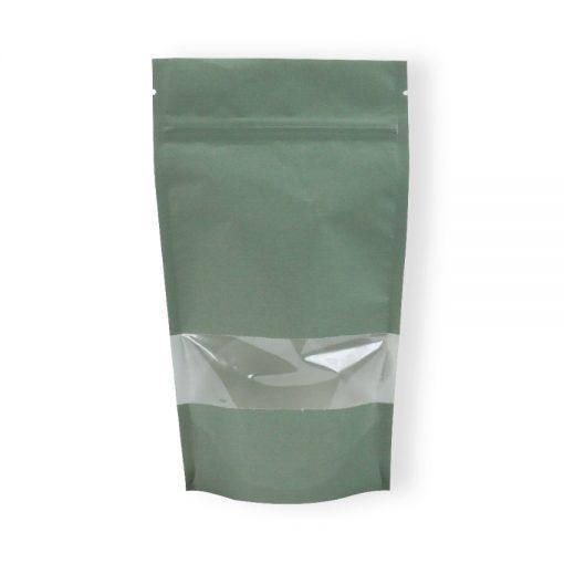 Lamizip Lynlåspose kraft papir med vindue